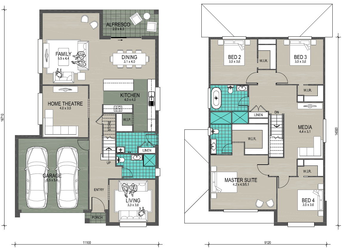 New Edge Homes Clarence 31 floor plan-LHS