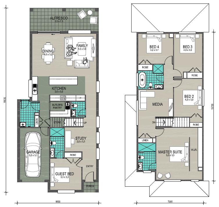 Floor plan diagram of Harvey 28 with Single Garage