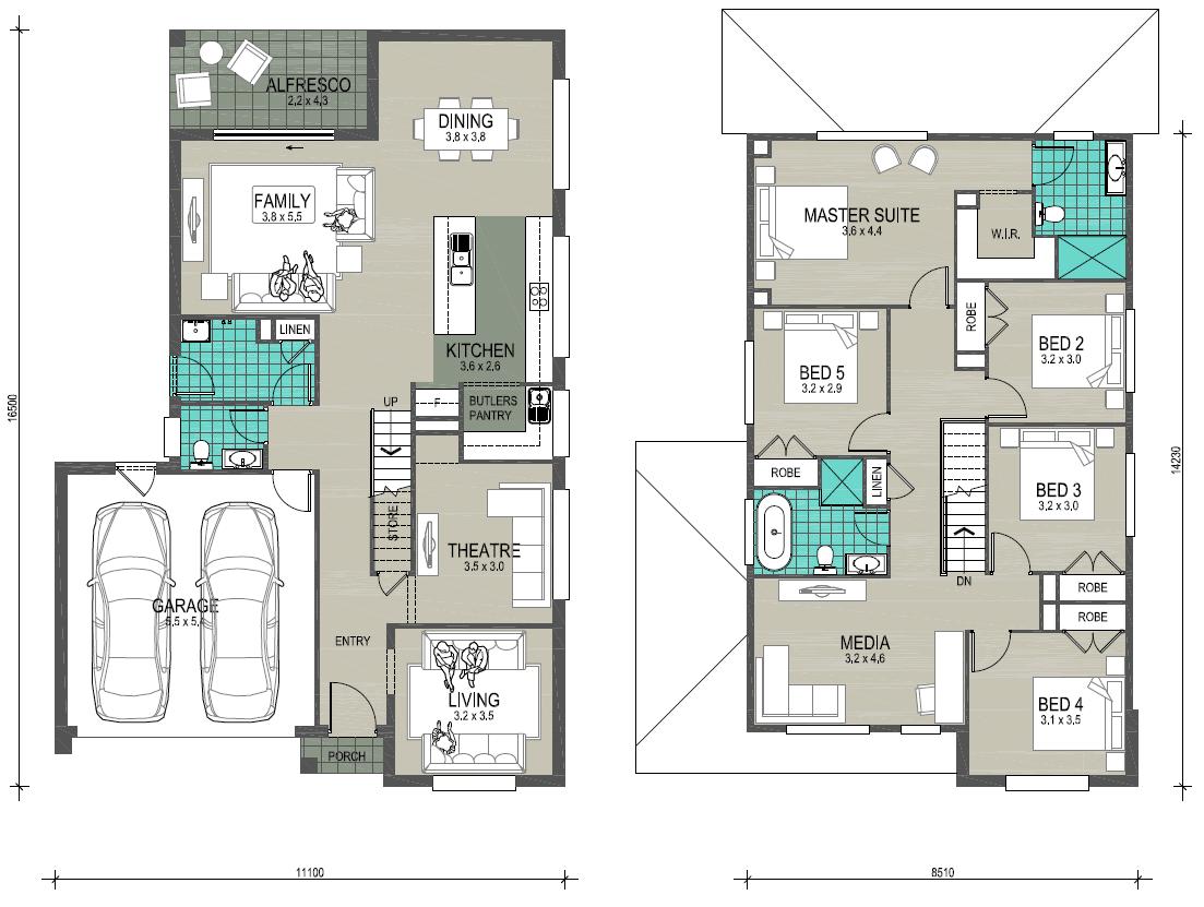 New Edge Homes Tuross 29 floor plan-LHS
