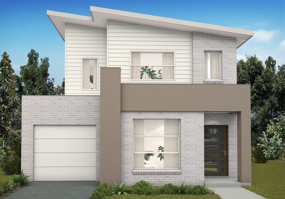 White outer interior of Marsden Park display home