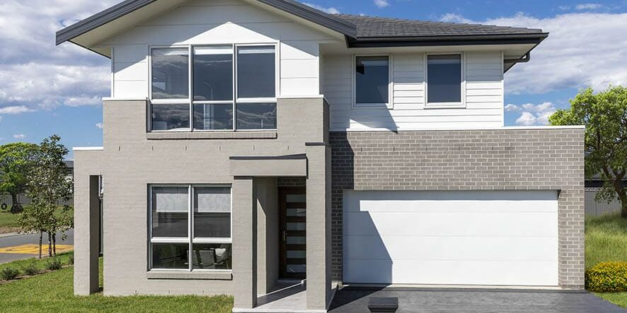 Vibe Facade of Lachlan 29 home painted with grey and white